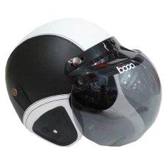 Matrix Helm - Helm Bogo Retro Hitam Putih