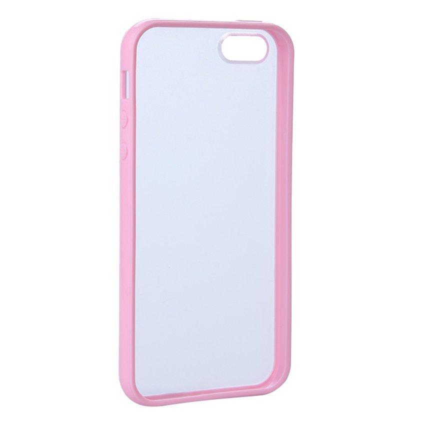 Matte Transparent Protective Back Case for iPhone 5/5g Pink