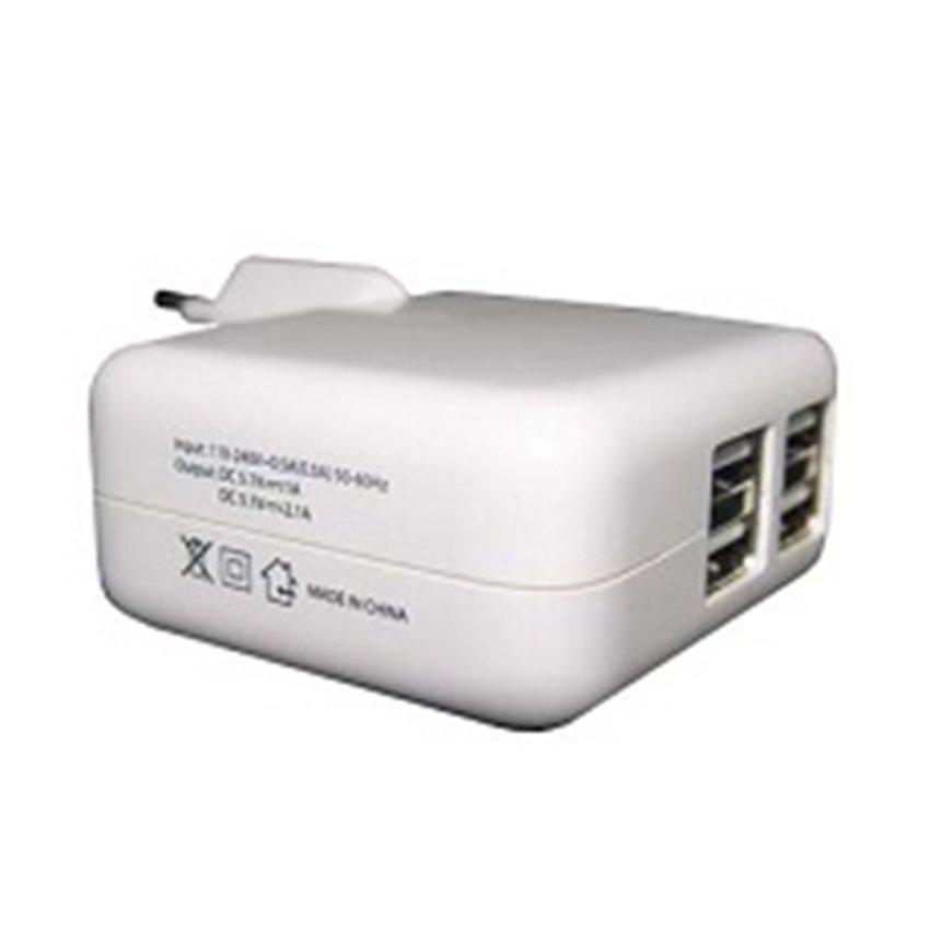 Mediatech 4 Ports USB Charger - Putih