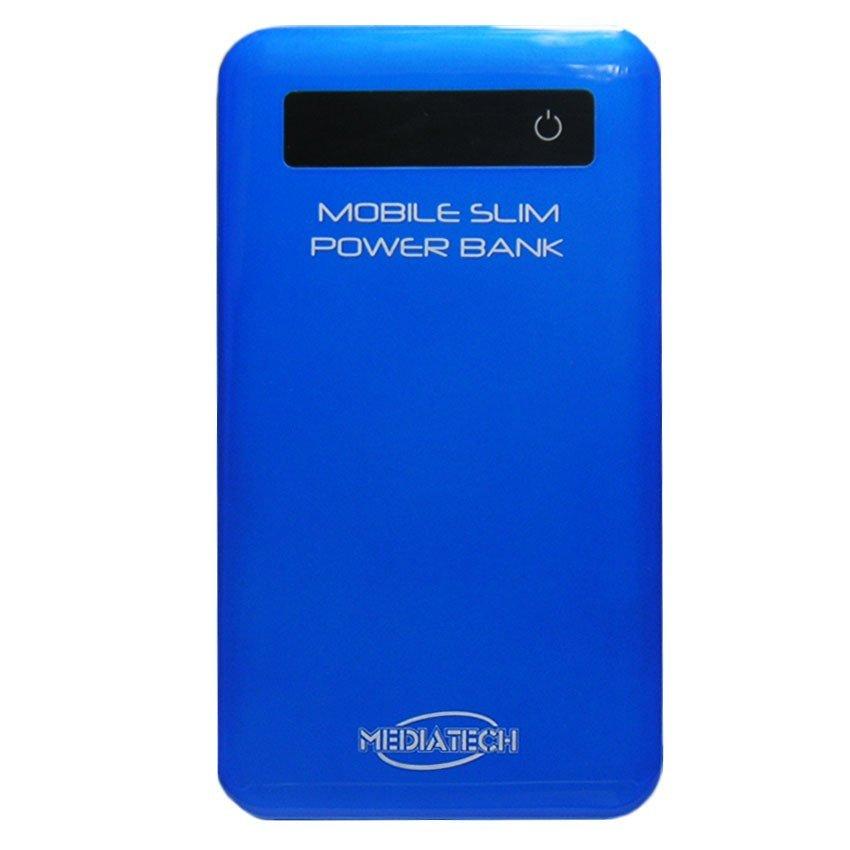 Mediatech MPW-07 Ultra Slim Power Bank - 5600 mAh - Biru