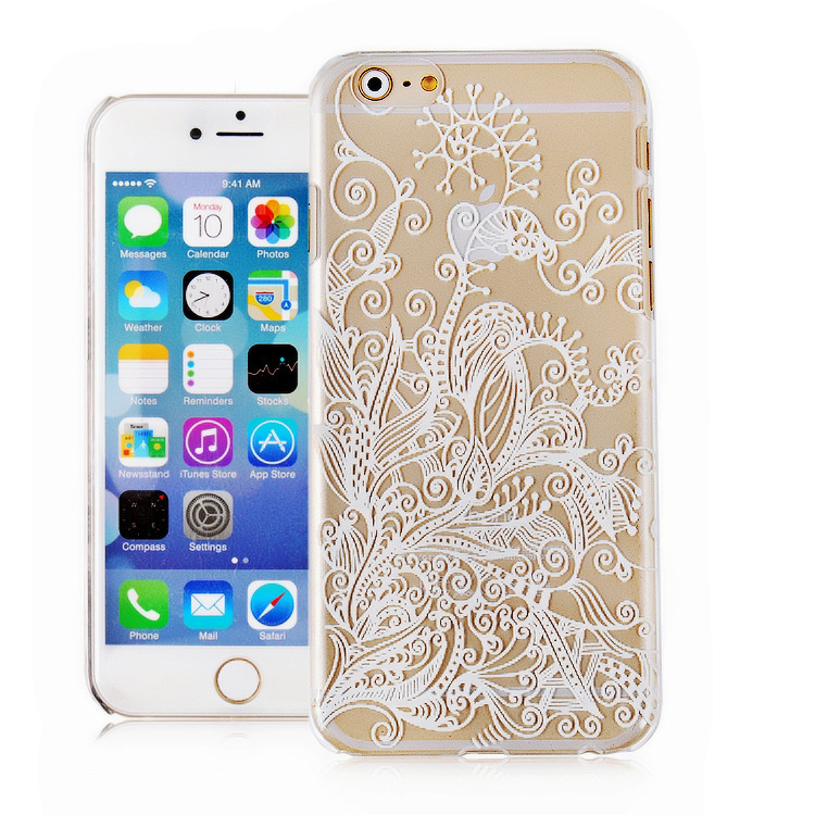 Meet Twist Vintage Flower Fashion Luxury Phone Back Case for Apple iPhone5S (White/Clear) (Intl)