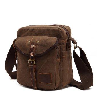Jual Men Messenger Bags Canvas Vintage Bag Men Shoulder Crossbody Bags Outdoor Travel Man Brown Small