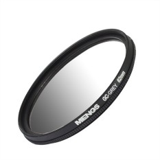 MENGS 62mm Graduated GRAY Lens Filter With Aluminum Frame For Canon Nikon Sony Fuji Pentax Olympus Etc Camera