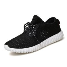 Men's Fly Woven Coconut Breathable Shoes Hole Hole Shoes Lq520d5 - Intl