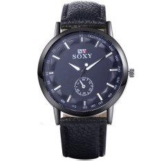 Men's Leather Belt Watch Business Men Watch Fashion Wild Fashion Watch Cl418c-black - Intl