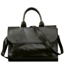 """Men's Leather Retro Messenger Shoulder Bags Handbag 13"""" Laptop Bag Briefcase Black (INTL)"""