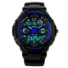 Men's Quartz Digital Sports Watches 0931 SKMEI S Shock LED Military Waterproof Casual Wristwatches(Blue) (Intl)