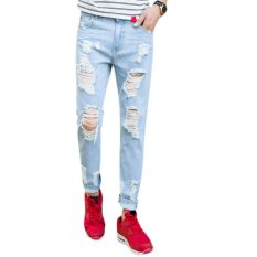 Mens Stylish Straight Slim Fit Jeans - Intl