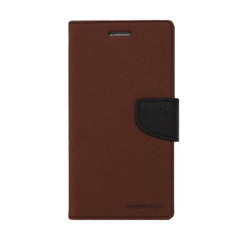 Mercury Goospery Fancy Diary for Case Flip Cover Casing for Samsung Galaxy J5 - Cokelat