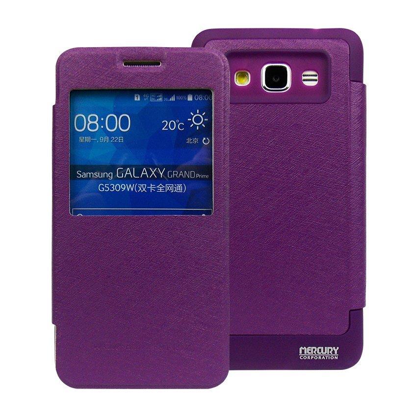 Mercury Goospery Wallet WOW untuk Samsung Galaxy J1 Ace - Ungu