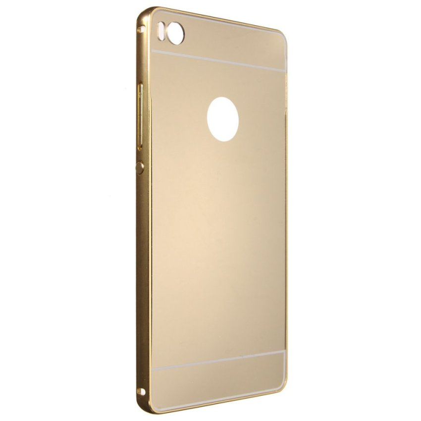 Metal Frame PC Mirror Hard Back Case for Huawei Ascend P8/P8 Lite (Golden) (Intl)