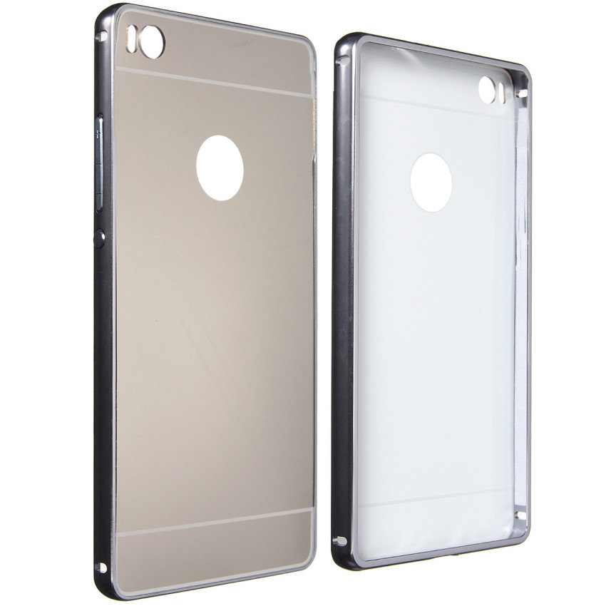 Metal Frame PC Mirror Hard Back Case for Huawei Ascend P8/P8 Lite (Grey) (Intl)