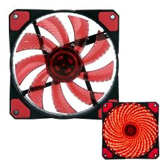 Mingjue 3-Pin / 4-Pin 120x120x25mm LED Quiet Edition High Airflow Low Noise High PressureFan Single Pack 30-RLED Mini Cooling Cooler Fan, Red