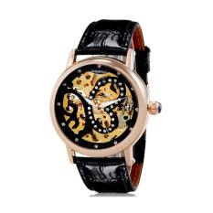 Mingjue SH Women's Butterfly Print Round Analog Automatic Wind Watch With Rose Gold Stainless Steel Case Relojes Hombre 2015 Man Watches