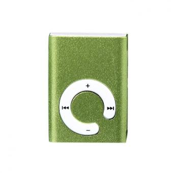 Mini Clip Metal USB MP3 Player Support Micro SD TF Card Music Media Green