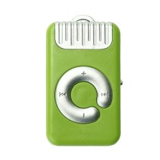 Mini Clip Metal USB MP3 Player Support Micro SD TF Card Music Media (Green)