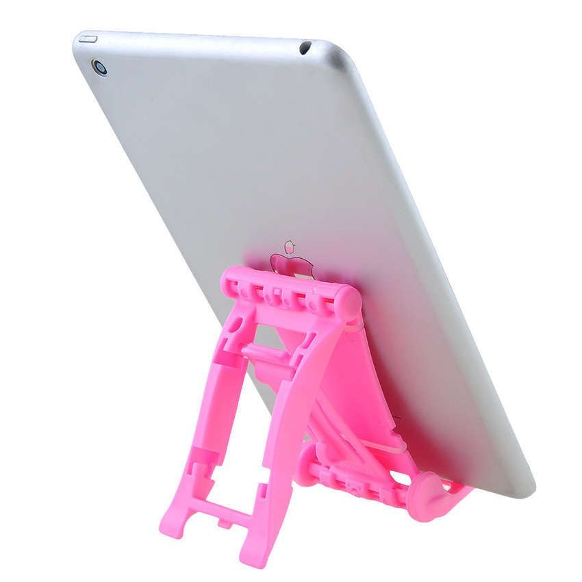 Mini Desk Plastic Mobile Phone Stand Holder - Pink