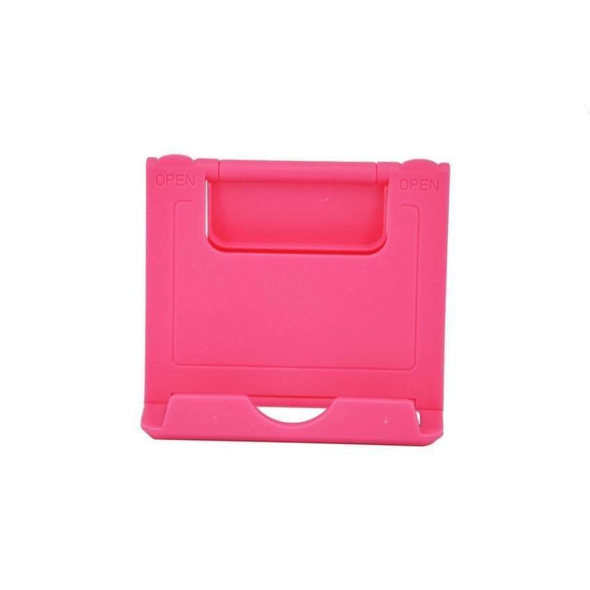 Mini Desk Plastic Mobile Phone Stand Holder - Red