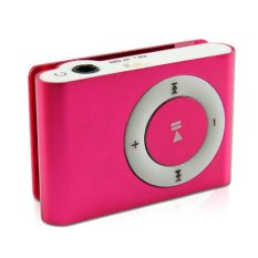 Mini MP3 Player Aluminium Clip USB Support Micro SD TF 2 4 8 GB Rose
