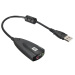 Mini USB 2.0 3D Virtuel 12Mbps Externe 7.1 Canaux V2 Audio Carte Son Adaptateur Black (Intl)