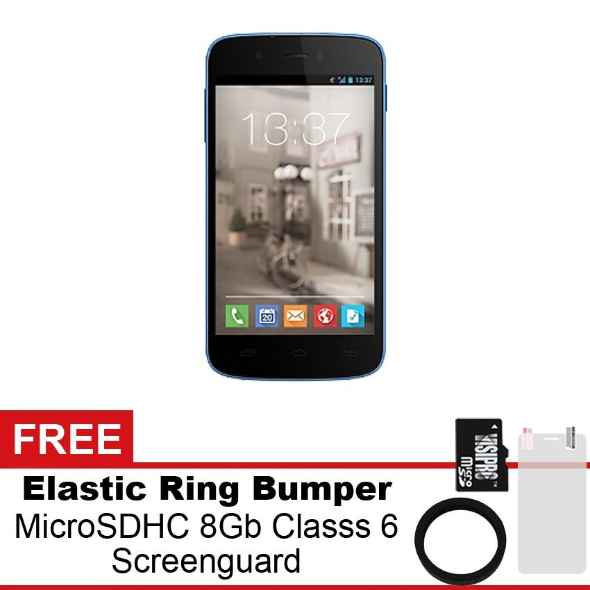 Mito Fantasy 2 A310 Plus - 4GB - Biru + Gratis MicroSDHC 8Gb Class 6 + Elastic Ring Bumper + Screenguard