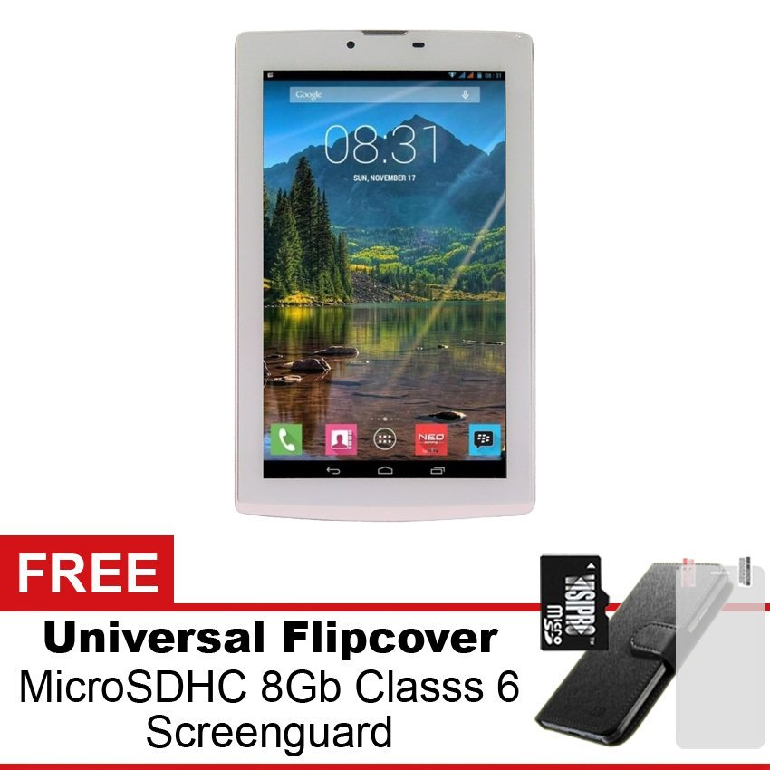 Mito Fantasy Tablet T75 - 8GB - Putih + Gratis Paket Hadiah