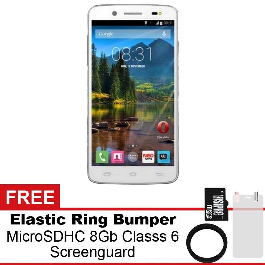 Mito Fantasy U A60- 8GB - Putih + Gratis MicroSDHC 8Gb Class 6 + Elastic Ring Bumper + Screenguard