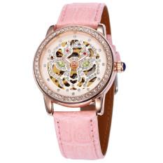 Moob 2016 Casual Reloj Mujer SHENHUA Watches Women Hollow Out Dial Automatic Mechanical Wrist Watch Xmas Gift Free Ship - Intl