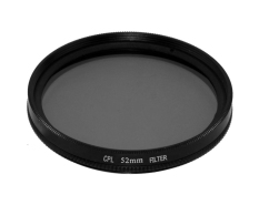 Moob Universal Aluminum Alloy 52MM Circular Polarizer Filter Polarizing CPL Filter For SLR Camera Lens (Black) - Intl