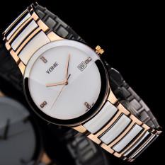 Moob YOME's Watch Is Brand Mens Watch Waterproof Fashion Quartz Watch Fine Steel Lovers Fashion Watch (1 X Women Watch)