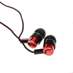Moonar 3.5mm Metal Jack Standard Noise Isolating 1.1M Reflective Fiber Cloth Line Stereo In-ear Earphone (Red) (Intl)