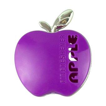 moonar auto car air freshener outlet perfume scent interior decoration apple shape purple. Black Bedroom Furniture Sets. Home Design Ideas