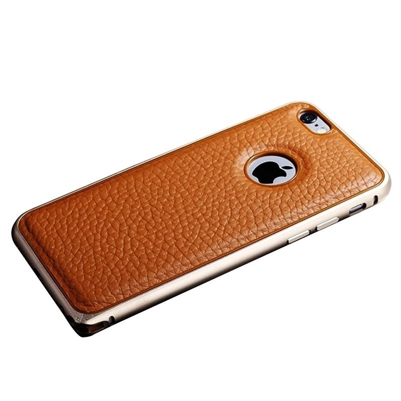 Moonar Luxury PU Leather Back Case Cover for iPhone 5/5S (Golden)