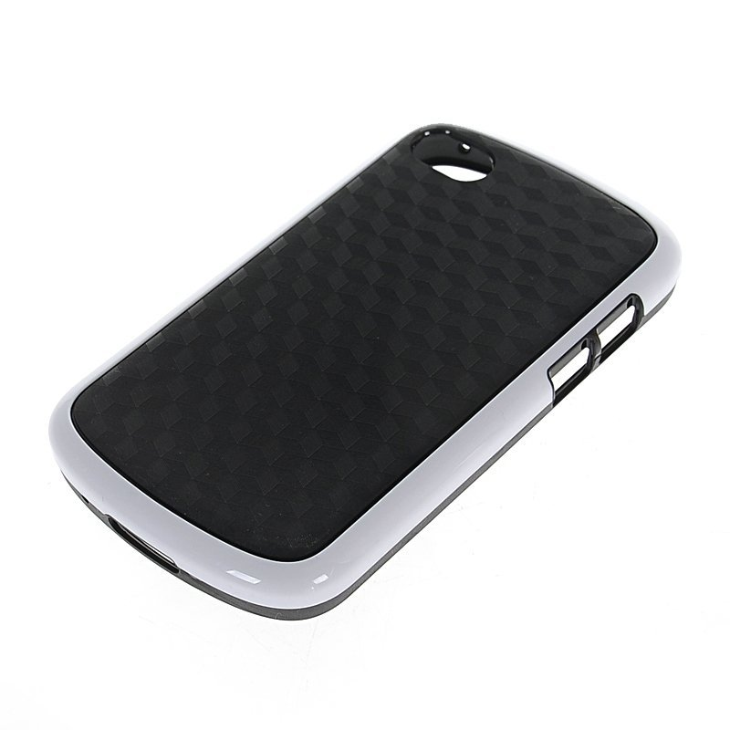 MOONCASE Soft Gel Tpu Silicone Case Cover for Blackberry Q10 Black White