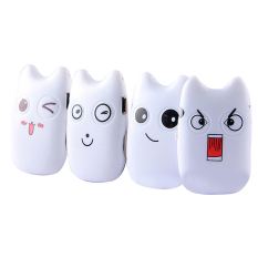 Mp3 Music Player Portable Smailing Cat Player With TF Card (White) - Intl