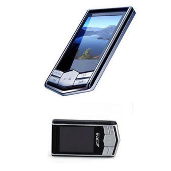 MP4 Wholesale Custom Ultra-thin Metal Black Diamond HD 1.8 Inch Screen Music Player Manufacturers - Intl