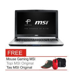 "MSI PE60 2QE - 15.6"" - Intel Broadwell I7 - 4GB RAM - Nvidia Geforce GTX960M - Win10 - Silver + Gratis Mouse + Topi + Tas"