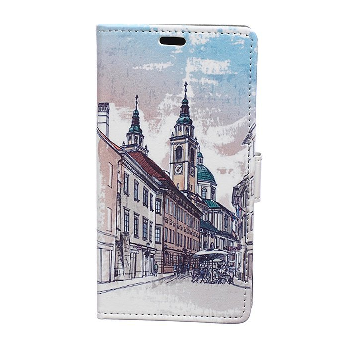 MSK Pattern Series Flip Leather Wallet Card Holder Pouch Stand Back Case Cover for Samsung Galaxy J7