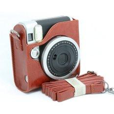 Mulba PU Leather Fuji Mini Case Bag For Fujifilm Instax Mini 90 Brown C571