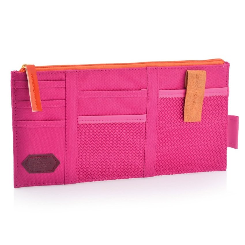 Multi-functional Auto Car Sunvisor Pocket Storage Bag (Pink)
