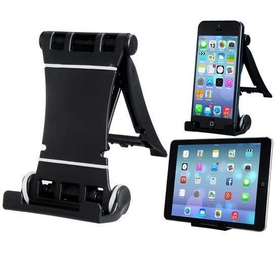 Multifunctional Plastic Holder for iPhone, iPod (Black) (Intl)