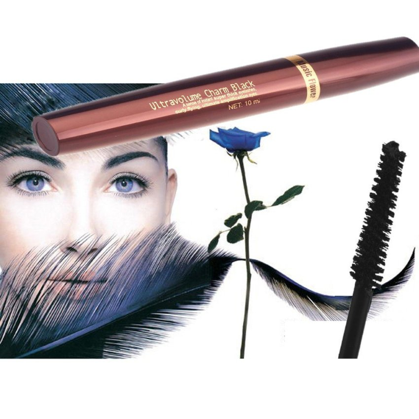 Music Flower 10ml False Eyelashes Volume Mascara Makeup Eyes Cosmetics Long Lasting Thick Curl Waterproof M2034 (Intl)