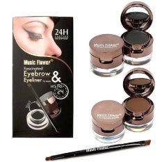 Music Flower - 24hour Waterproof 2in1 Eyebrow & Eyeliner