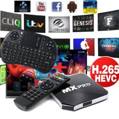 MX Pro Android 4.4 Quad Core Smart TV Box + Wireless Keyboard EU Plug AH014 - Intl