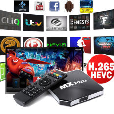 MX Pro Android TV Box Quad Core 8G Smart Fully Loaded KODI Network Streamer (Intl)