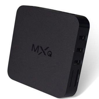 MXQ TV BOX MX Amlogic S805 Quad Core Android 4.4 TV Box Kitkat 4K 1GB / 8GB XBMC IPTV Fully Loaded WIFI Airplay Miracast (Black)