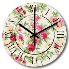 Nail Your Art Jam Dinding Unik Artistik - Rose - Artistic Unique Wall Clock