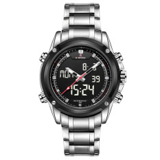 NAVIFORCE 9050G Stainless Steel Strap Men's Sports Double Movement Watch