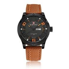 NAVIFORCE Luxury Brand Men Casual Quartz Wristwatch PU Leather Strap Fashion Man's Business Watch With Date - Intl