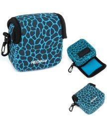 NEOPine Original Deer Pattern Neoprene Soft Camera Case Bag For Gopro HERO3 HERO3 + HERO4 Sport Action Camera Protective Pouch Cover (Blue)